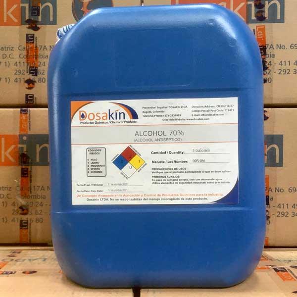 ALCOHOL ANTISÉPTICO AL 70%,Solución hidroalcahólica sanitizante de utensilios, herramientas, piel, ropa, etc. Sustancia recomendada por la OMS como desinfectante contra el COVID-19