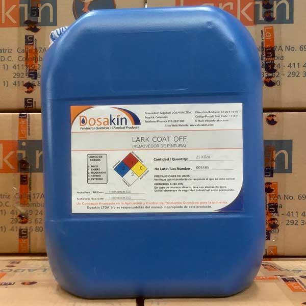 LARK COAT OFFes un removedor de pintura altamente efectivo sobre pinturas curadas líquidas o en polvo, para uso por inmersión