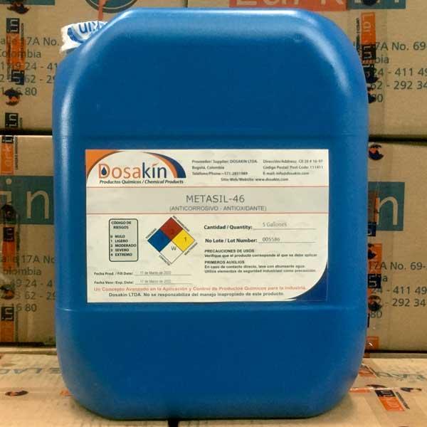 METASIL 46 Desplazador de agua de piezas mojadas aportándole a estas una película protectora al secado de la pieza adhiriendo inhibidores de corrosión