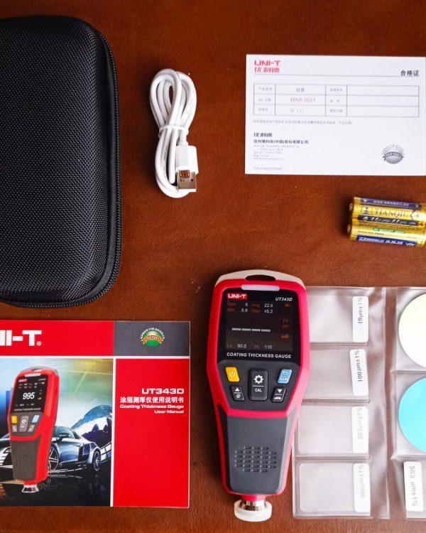 UT343D Medidor de Espesor Coating Thickness Gauge